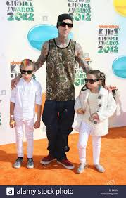 Travis Barker with son Landon Asher and ...