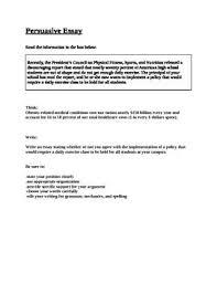 Example Essay Prompts Staar Eoc Persuasive Essay Prompt Obesity Essay Prompts