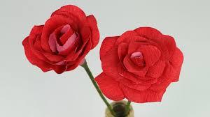 Paper Flower Video Diy Paper Rose Step By Step Flower Making Tutorial
