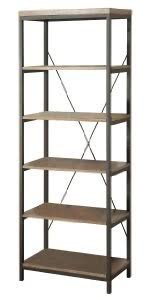 Homelegance Wood and Metal Bookcase
