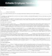 Free Employees Handbook New Employee Handbook Template Church Employee Handbook Template