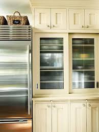 Glass kitchen cabinet doors Tall Fluted Or Reededglass Cabinet Doors Better Homes And Gardens Glassfront Cabinetry