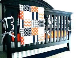 orange blue crib bedding
