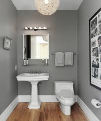 bathroom wall paintSmall bathroom design wall grey  Brookes bathroom  Pinterest