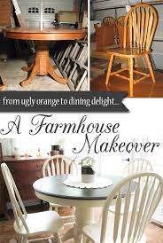 farmhouse table makeover with homeright
