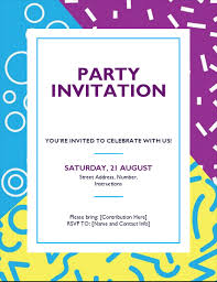 Word Template For Invitation Word Templates