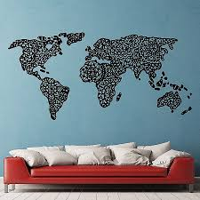 wall decals wall decals for kids elegant mandala world map scheme of penguin wall stickers