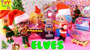 pie elves make presents in santa jesse s work
