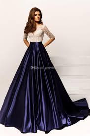 Half Sleeves Backless Evening Dresses 2017 Crystal Design Bateau