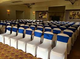 lycra chair covers navy blue sashes