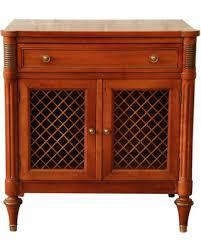 cherry wood nightstand. Kindel Furniture French Regency Style Nightstand / Vintage Cherry Wood N