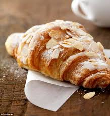 starbucks tops the list for unhealthiest almond croissant pictured as it contains 525