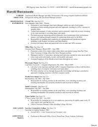 Retail Store Manager Resume Best Store Manager Resume Example