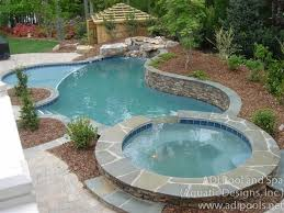pool hot tub combo memorable spas tubs adi spa residential and commercial pools home ideas 1
