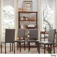 Amazon.com - Modern INSPIRE Q Darcy Metal Upholstered Dining Chair (Set of  4) in Brown - Chairs