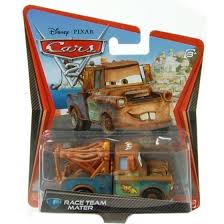 Race Team Mater Cars 2 Character Vehicle Tow Truck Die-Cast Car ...