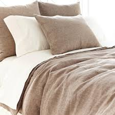 pine cone hill chambray linen sable duvet cover contemporary duvet covers and duvet sets by purehome