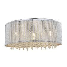 crystalline round flush mount crystals chandelier