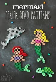 Perler Bead Patterns Magnificent Easy Mermaid Perler Bead Patterns Cutesy Crafts