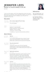 Nanny Resume Example Enchanting Nanny Resumes Resume Examples Good Profile Objective Komphelpspro