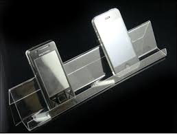 Cell Phone Display Stands 100pcs Long Shelf Acrylic Display Rack Holder Mobile Cell Phone 78