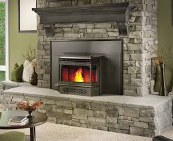 Fancy Fireplace Living Room Fancy Gas Napoleon Fireplace With Natural Stone