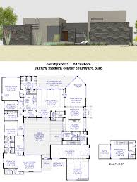 small house with inner courtyard luxury modern plan interior plans small house plans with inner courtyard