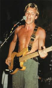 Sting (The Police) with his Fender fretless Precision Bass! 1979, I guess.  Not sure.   Sting musician, Madame wong, Singer