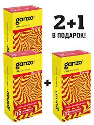 <b>Презервативы GANZO</b> EXTASE, комплект 2+1 (Спайка 3 упаковки ...
