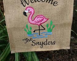 flamingo garden flags. Perfect Garden Flamingo Welcome Personalized Small Garden Flag On Garden Flags E