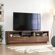 Mid century living room furniture Coffee Table Decor Harvey Park Grand Walnut Entertainment Credenza The Home Depot Midcentury Modern Tv Stands Living Room Furniture The Home Depot