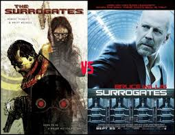 Surrogates Movie Surrogates Review Comic Book Vs Movie Adaptation Nine Over Ten 9 10