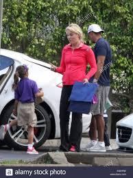 Lindsey Vonn Tiger Woods y llevar a sus hijos a la escuela, presentando: Tiger  Woods,Lindsey Vonn,Sam Woods, Charlie Woods donde: Pal Fotografía de stock  - Alamy