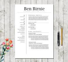 Executive Resume Template 5 Pages Professional Teacher Cv