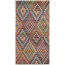 safavieh monaco quilt multi beige indoor kids throw rug common 2 x 4