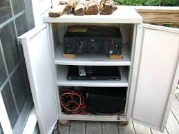 outdoor stereo cabinet patio shelves storage cabinets with outside