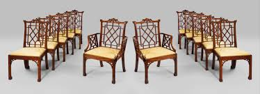 Chippendale Furniture Set Of Twelve Chinese Chippendale Mahogany Side Chairs Thomas