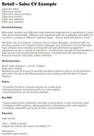 Retail Sales Cv Example Learnist Org