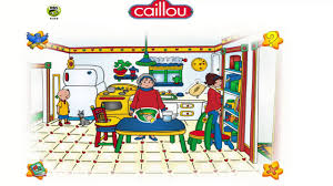 caillou games help dad build bridges and cooking with grandmother