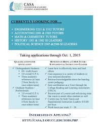 texas a m university corpus christi center for academic student si leader and general tutoring if you are interested in part time employment as an si leader or tutor math accounting science or spanish at the center
