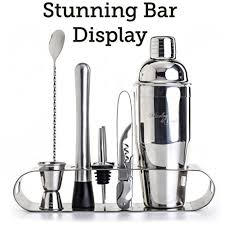 Mixology Bartender Kit: <b>9</b>-<b>Piece Bar Set</b> Cocktail Shaker Set with ...