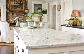 marble in farmhouse kitchen from for the love of a house blog white cement countertop how