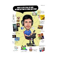 caricature poster for him