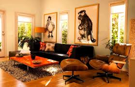 Orange And Brown Living Room Accessories Inspiring Orange Living Room With Cool Design And Decorating Ideas