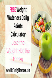 free weight watchers daily points calculator
