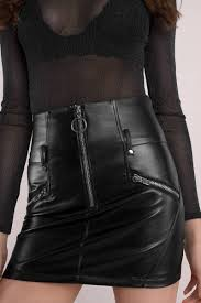 dusk til dawn black pleather o ring skirt