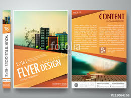 Book Design Templates Flyers Design Template Vector Business Brochure Report Magazine
