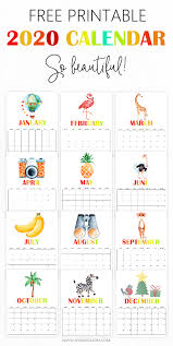 Your 2020 Calendar Printable Is Here In Super Fun Theme