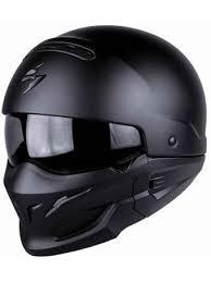 Scorpion Matt Black Exo Combat Motorcycle Flip Up Helmet