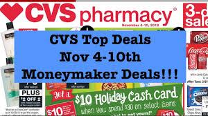 cvs couponing top deals nov 4 10th moneymakers